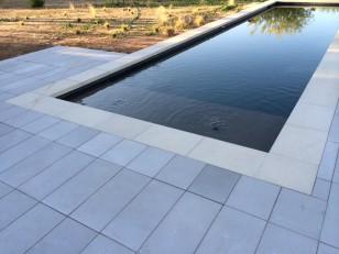 New concrete paver patio